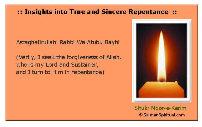 True and Sincere Repentance