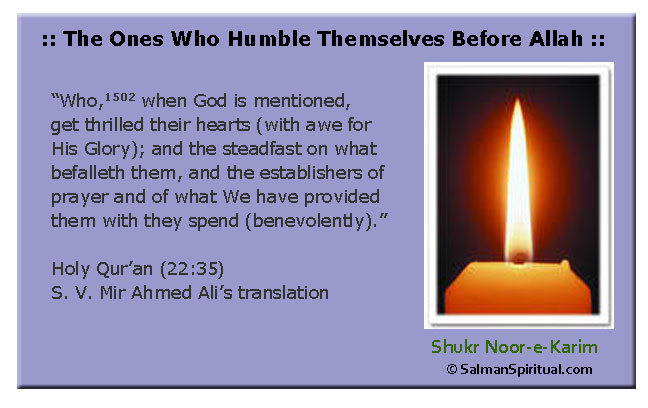 The Ones Who Humble Themselves Before Allah